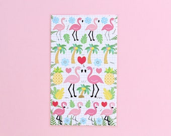 Stickers, Flamingo, pineapple, Palm, deco Stickers, fun craft stickers