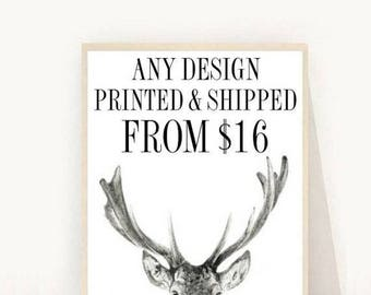 Any Design Printed And Shipped