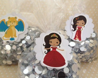 Elena of Avalor Party Favor Bags with Tags - Set of 10