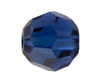 Swarovski Crystal Round Beads 5000 -  3mm 6mm - Dark Sapphire