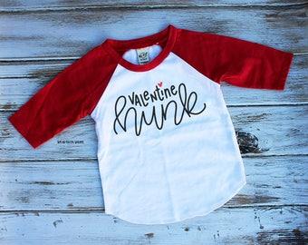 Valentine Hunk | Kids Raglan Tee | Toddler Raglans | Boys Valentine Tee | Cute Kids Shirts | Valentines Day Shirts | Valentines Tee