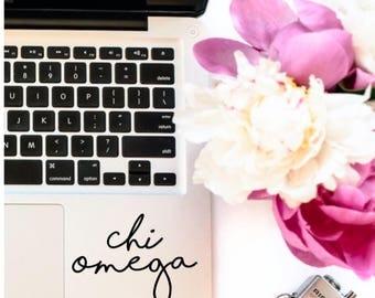 Chi Omega Laptop Yetti Camelbak Decal