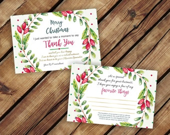 INSTANT DOWNLOAD Rodan and Fields Christmas Holiday Thank You Postcard * Rodan + Fields Thank You Card * R+F Biz Cards * Rodan and Fields