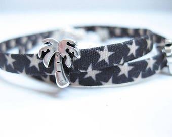 Bead Bracelet - asterisk, bracelet, fabric bracelet,