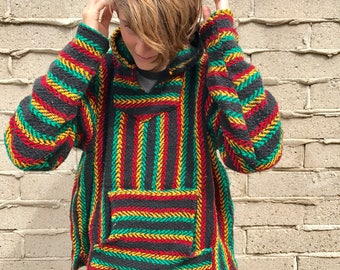 You Choose Serape Hoodies, Mexican Blanket Sweaters, Beach Hoodies, Stripped Pancho