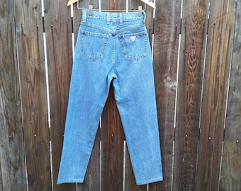 """Vintage Women's 80's 90's Guess Jeans High Waist Mom Tapered Waisted 28"""""""