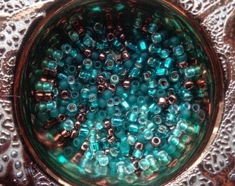 8/0 Toho Japanese seed beads - 10 grams, hole 1mm, round glass 3mm