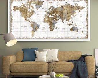 large wall art push pin world map world map wall art print push