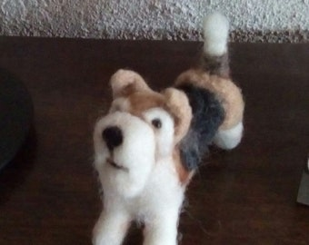 Needle Felted Fox Terrier miniature