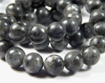 15-1/2 Inch Strand - 10mm Round Labradorite Beads - Gemstone Beads - Jewelry Supplies
