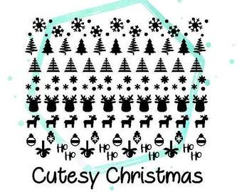 Christmas Vinyl Nail Stickers