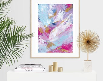 Unicorn Blend #1 Abstract Expressionist Luxury Acrylic Painting Print - A5 or A4