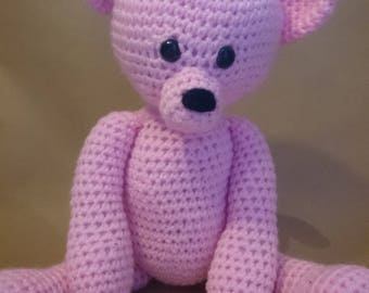 Crochet Teddy bear - Pink - Amigurumi/Handmade