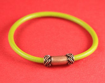 4A/1 MADE IN EUROPE 4mm cord magnetic clasp, 4mm round leather cord clasp, round cord zamak clasp (TM4CFC) Qty1