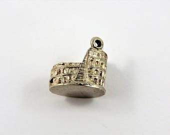 Colosseum in Rome Italy at least 800 Silver Charm of Pendant.