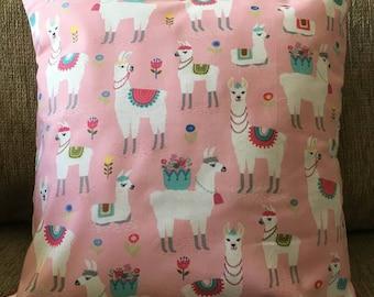 Pink Llama/Alpaca Cushions