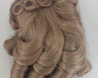 Vintage IMSCO Craft Fashion Doll Hair Wig Style M-380 SIZE 10 -11 /Wig Color Honey - Blonde/ 100% Synthetic Fiber Made in Korea Circa 1980's