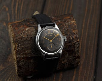 Very Old Watch 1950's Soviet Mechanical Vintage Watch Kama. Made In Ussr  / Vintage Watch