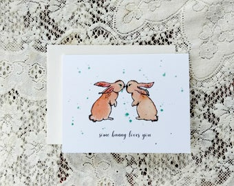 Easter Card / Some Bunny Loves You / Cute Easter Card / Bunny Card / For Son / For Daughter / For Granddaughter / For Wife / For Child