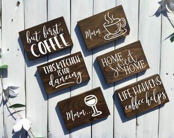 MINI Kitchen Signs   Rustic Kitchen Decor,Rustic Kitchen Signs,Kitchen Signs  Wood,