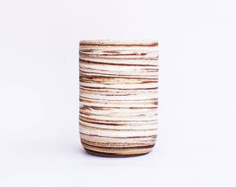 Marbled Clay Tumbler/Small Vase