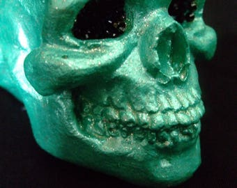 Skull, small skull, plaster sculpture