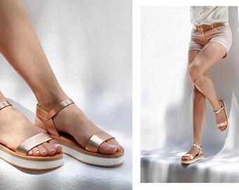 Sandals, Leather sandals, Greek sandals, Womens sandals, Wedding sandals, Platform sandals, Platform shoes, Wedges, Wedding wedges, YASEMI