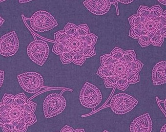 Tula Pink; Eden; Henna in Amethyst; 1/2 yard cotton woven fabric