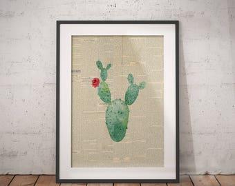 Botanical Plant Art | Palm Leaf Print, Newspaper Print, Nursery Plant Art, Nursery Plant Art, Plant Painting Print, Plant Paint Print