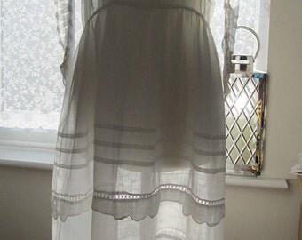 Antique Edwardian Dress, Childs Petite Communion, Romantic White