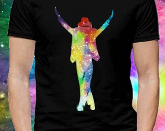 T-shirt Michael Jackson Silhouette. TUMBLR, colorful, Illustration, Water colors ...