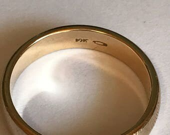 10k Solid Gold Wedding Band.  Size 12