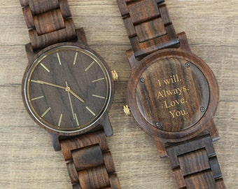 Graduation Gifts, Engraved Gifts, Wood Watch, Birthday Gift, Groomsmen Gifts, Wooden Mens Watches, Anniversary Gifts for Him, Mens Birthday