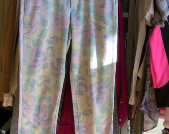 Vintage Flowered Jeans