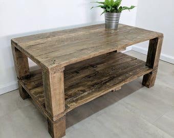 Repurposed Timber Pallet Coffee Table AHVIMA in Light Oak finish-  Contemporary Modern Design- Reclaimed