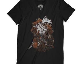 Fathers day shirt warrior t-shirt tribal chief shirt tribe t-shirt native american shirt spirit animal shirt husband gift  AP54