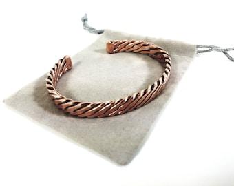 Blake Mens Bracelet Copper Bracelet Mens Copper Bracelet Textured Copper Bracelet for Men