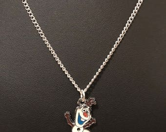 Silver Plated Disney Frozen Olaf Necklace