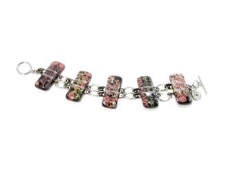 Bracelet / verre fusion / épingles / bijoux / accessoires mode / métiers d'art / LapareBijoux