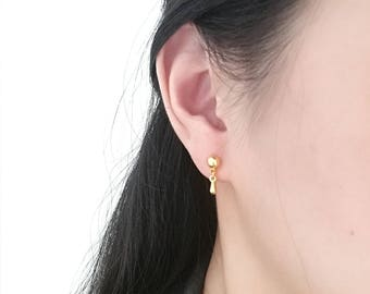 Drop Studs, Gold Drop Studs, Gold Drop Earrings, Teardrop Studs, Teardrop Earrings, Gold Teardrop Stud, Drop Stud Earring, Tiny Drop Earring
