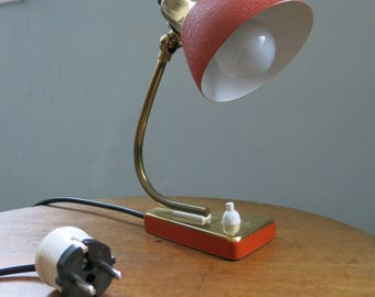Scandinavian small red desk lamp