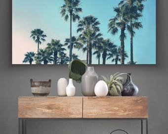 PALM TREES Palms Tropical Beach - Art Poster Print Canvas - On Trend Scandi