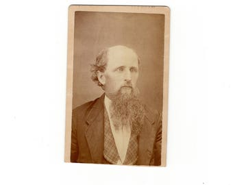 Bearded and bald, antique cdv photo