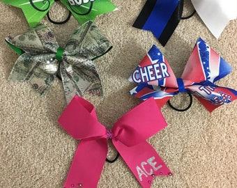 Colorful Custom Cheer Bows