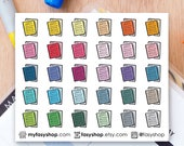 30 Essay Papers Doodles | Colourful Hand Drawn Sticker Planner