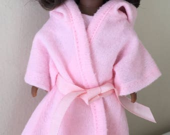 "6"" mini doll clothes:  robe, slippers, and pajamas"