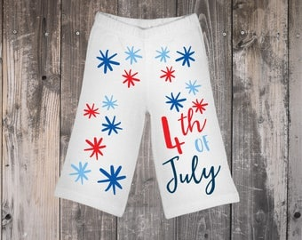 Firework Baby Pants, America Pants, Infant 4th of July Pants, Holiday Pants for Baby, Baby Boy Pants, Baby Girl Pants, Infant Pants, July 4