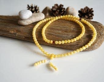 Natural Baltic Amber 11.5 gr. Butterscotch color Buddhist Rosary Amber/Bernstein/琥珀色