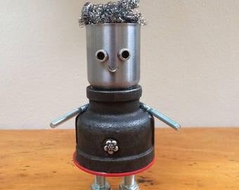 Found Object Robot Sculpture Assemblage