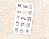 Mini sticker sampler - Good Vibes collection / 14 stickers / for the Erin Condren, Personal planners
